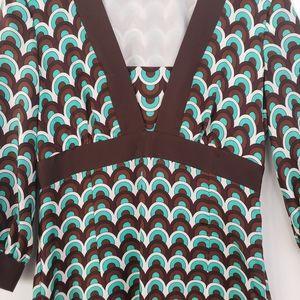 MILLY OF NEW YORK Empire Waist Silk Dress Size 4